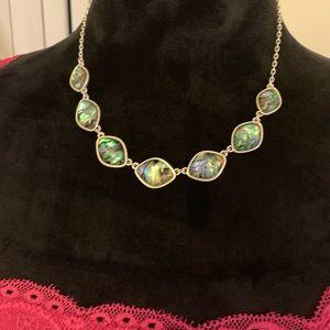 Lucky brand silver-tone Abalone Collar Necklace